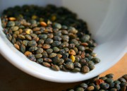 Lentils are high in protein and soluble fiber, and contain no saturated fat.